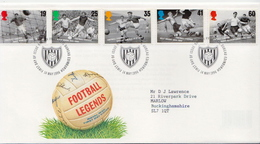 Great Britain Set On Used FDC - Soccer