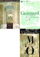 """3 Cartes Postales """"Cart'Com"""" - Série Expositions, Salons, Musées - D'Ocre Et D'Azur - Guimard - Musée D'Orsay - Musées"""