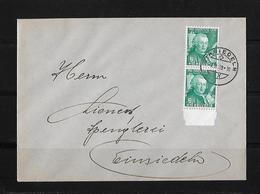 HEIMAT SCHWYZ → Brief Spenglerei Lienert Einsiedeln 1939   ►SBK-2xJ85◄ - Pro Juventute