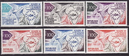 FRENCH AFRICA - 1973 - AIRMAIL - UNION AFRICANE - POSTES ET TELECOMMUNICATIONS - SHORT SET - MNH** LUX - Frankreich (alte Kolonien Und Herrschaften)