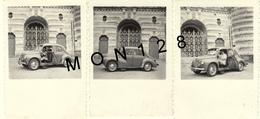 AUTOMOBILE VOITURE -RENAULT 4 CV -  3 PHOTOS - 6x8,5 Cms - Automobiles