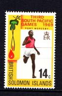 SOLOMON ISLANDS    1969    3rd  South  Pacific  Games   14c  Sprinter    MNH - Solomon Islands (1978-...)