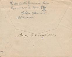 642/27 -  Feldpostbrief + Son Contenu SOLTAU 1915 - Prisonnier Grimard Borgniez Vers THUILLIES OSSOGNE - Censure Du Camp - Oorlog 14-18