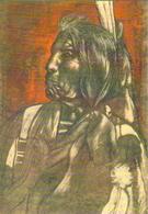 """Carte Postale """"Cart'Com"""" - Série Expos, Salons, Musées - """"Slow Bull"""" (indien) - Julien Chazal Illustrateur - Indiens De L'Amerique Du Nord"""