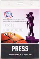 BASKETBALL - BELGRADE TROPHY 2012 , PRESS TICKET FOR ALL TOURNAMENT - Tickets D'entrée