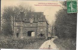 D27 - DOUVILLE SUR ANDELLE-DEPENDANCE DE LA FILATURE DE FONTAINE-GUERARD-Fillette Sur Le Chemin Homme Et Un Véhicule - France