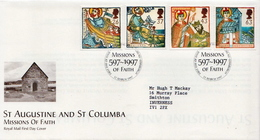 Great Britain Set On Used FDC - Christianity