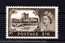 GREAT  BRITAIN    1959    2/6  Black  Brown    MNH - 1952-.... (Elizabeth II)