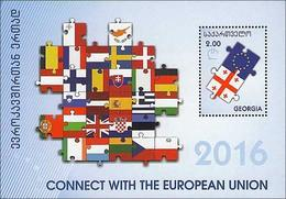 2016 GEORGIAConnect With European Union (Flags). S/S: 2.00 - Géorgie