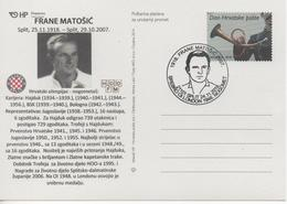 Croatia, Football, F. Matosic ( Hajduk, Bologna ), Silver Olympic Medal At London 1948 - Summer 1948: London