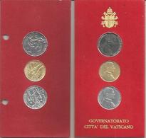 Vaticano, 1988, Papa Giovanni Paolo II, Lire 10, 20, 50 In Blister Ufficiale Di Zecca. - Vaticano