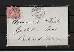 SITZENDE HELVETIA Gezähnt  → Brief Morges Nach Bern 1871    ►SBK-38◄ - 1862-1881 Helvetia Assise (dentelés)