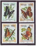 D101225 Venda 1990 South Africa BUTTERFLIES Insects MNH Set - Afrique Du Sud Afrika RSA - Venda