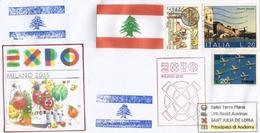 LIBAN/LEBANON. EXPO MILAN 2015, Belle Lettre Du Pavillon Du Liban,avec Tampon Officiel EXPO,adressée Andorra - 2015 – Milan (Italy)
