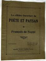 """(13285) Partition """" La Célèbre Ouverture Du Poète Et Paysan , De François De Suppé """"  """" En Baisse """" - Non Classés"""