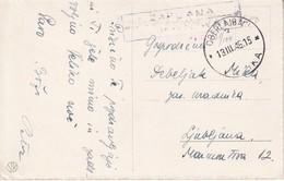 3256  AK--VRHNIKA--ZAPLANA 13.3.1945 - Slovénie