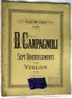"""(13288) Partition """" B. Campagnoli , Sept Divertissements """"       """" En Baisse """" - Non Classés"""