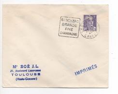 SEGONZAC   GRANDE FINE CHAMPAGNE  DAGUIN  1954 - Marcofilia (sobres)