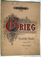 """(13291) Partition """" Grieg , Lyrische Stücke """"   """" En Baisse """" - Non Classés"""