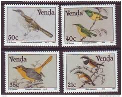D101225 Venda 1991 South Africa SUNBIRDS SEED EATERS Birds MNH Set- Afrique Du Sud Afrika RSA Sudafrika - Venda