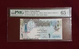 Qatar : 1 Riyal (2008-18) PMG 65 EPQ - GEM - NC - Qatar