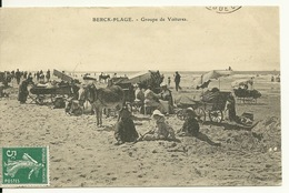 62 - BERCK PLAGE / GROUPE DE VOITURES - Berck