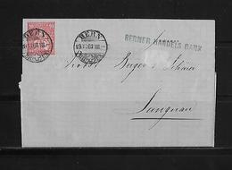 SITZENDE HELVETIA Gezähnt  → Brief Berner Handels Bank Nach Langnau 1867     ►SBK-38◄ - 1862-1881 Helvetia Assise (dentelés)