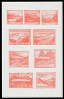 FOGLIETTO - Furstentum Liechtenstein Zeppelin Post (arancione) - Autres