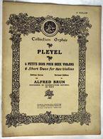 """{13297} Partition """" Pleyel, 6 Petits Duos Pour Deux Violons """"   """" En Baisse """" - Non Classés"""