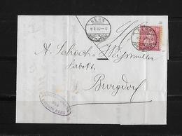 SITZENDE HELVETIA Gezähnt  → Brief Hypothekarkasse Bern Nach Burgdorf 1880      ►SBK-38◄ - 1862-1881 Helvetia Assise (dentelés)