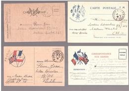 Très Beau Lot De 4 Cartes FM 1939/1940 - Poststempel (Briefe)