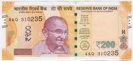 India NEW - 200 Rupees 2018 - UNC - India