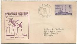 ESTADOS UNIDOS USA 1947 CC DESDE  LA EXPEDICION BYRD A LA ANTARTIDA MAT USS MOUNT OLYMPUS ANTARCTIC - Expediciones Antárticas