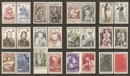 France 1960/72 - Croix-rouge - Petit Lot De 12 Séries Complètes MNH - Timbres
