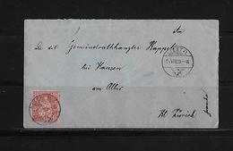SITZENDE HELVETIA Gezähnt  → Brief Liestal Nach Kappel Am Albis 1869   ►SBK-38◄ - 1862-1881 Helvetia Assise (dentelés)