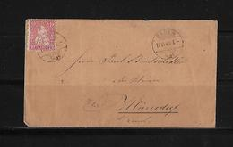 SITZENDE HELVETIA Gezähnt  → Brief Baden Nach Männedorf  1869   ►SBK-38◄ - 1862-1881 Helvetia Assise (dentelés)