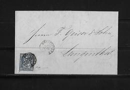 SITZENDE HELVETIA Gezähnt  → Brief Kreuzlingen Nach Langenthal  1863   ►SBK-31◄ - 1862-1881 Helvetia Assise (dentelés)