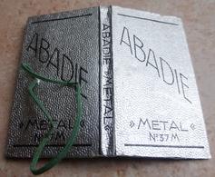 """Carnet De Papier à Cigarettes """"  ABADIE  """"   Métal N° 37 M - Empty Cigarettes Boxes"""