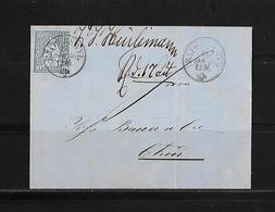 SITZENDE HELVETIA Gezähnt  → Brief Rapperswyl Nach Chur 1866    ►SBK-31◄ - 1862-1881 Helvetia Assise (dentelés)