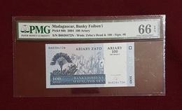 Madagascar :100 Ariary (2004 Pk 86b) PMG 66 EPQ - GEM - NC - Madagascar