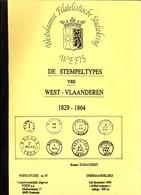 WEFIS 67 De Stempeltypes Van West-Vlaanderen 1829-1864 R. DUSAUCHOIT 94 - Philatélie Et Histoire Postale