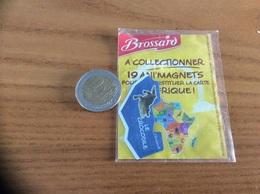 Magnet Brossard Savane Série 19 AFRIQUE (GUINEE, SIERRA LEONE, LIBERIA, COTE D'IVOIRE, GHANA, TOGO, LE CROCODILE) - Magnets