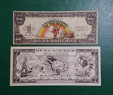 USA : Rare Billets Fantaisie Des Années 30 CA - Etats-Unis
