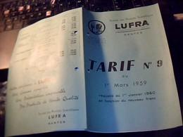 Vieux Papier Publicité Tract 4 Pages  Soociété Des   Produits Sciientifiques LUFRA à Nantes Annèe 1959 - Publicidad