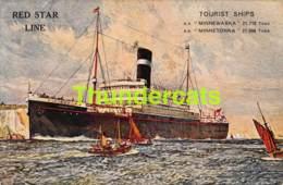 CPA RED STAR LINE TOURIST SHIPS MINNEWASKA MINNETONKA - Steamers