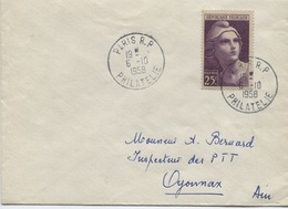 MARIANNE DE GANDON Grand Format (Yvert N° 731)Paris 1958 - Storia Postale