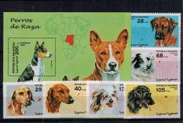 MDA-12082017-0020 MINT ¤ SAHARA REP.  1998 KOMPL. SET ¤ ANIMALS OF THE WORLD - MAMMALS - DOGS - Honden