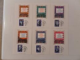 FRANCE CARTES-MAXIMUM YT3187/3192 DU CINEMA FRANCAIS (6 CM) - Cartes-Maximum