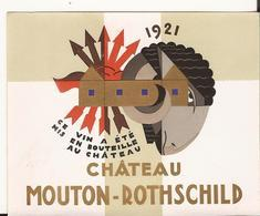 BELLE ETIQUETTE CHATEAU MOUTON-ROTHSCHILD 1921 - Bordeaux