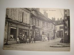 03 Cérilly Rue Mistaudin  Gros Plan Boulangerie Restaurant Librairie 1919 - France
